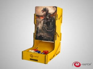 e-Raptor Dice Tower swap! Yellow with Dragon Guardian artwork