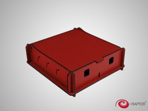e-Raptor Universal Box Small Red