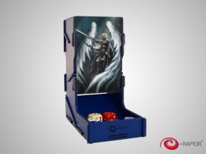 e-Raptor Dice Tower swap! Blue with Angel Knight artwork