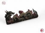 e-Raptor Card Holder S Dragon FullPrint Red