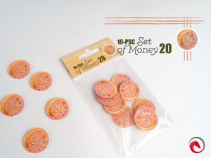 e-Raptor 10-Piece Set of Money 20