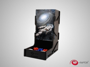 e-Raptor Dice Tower swap! Black with Spaceship artwork